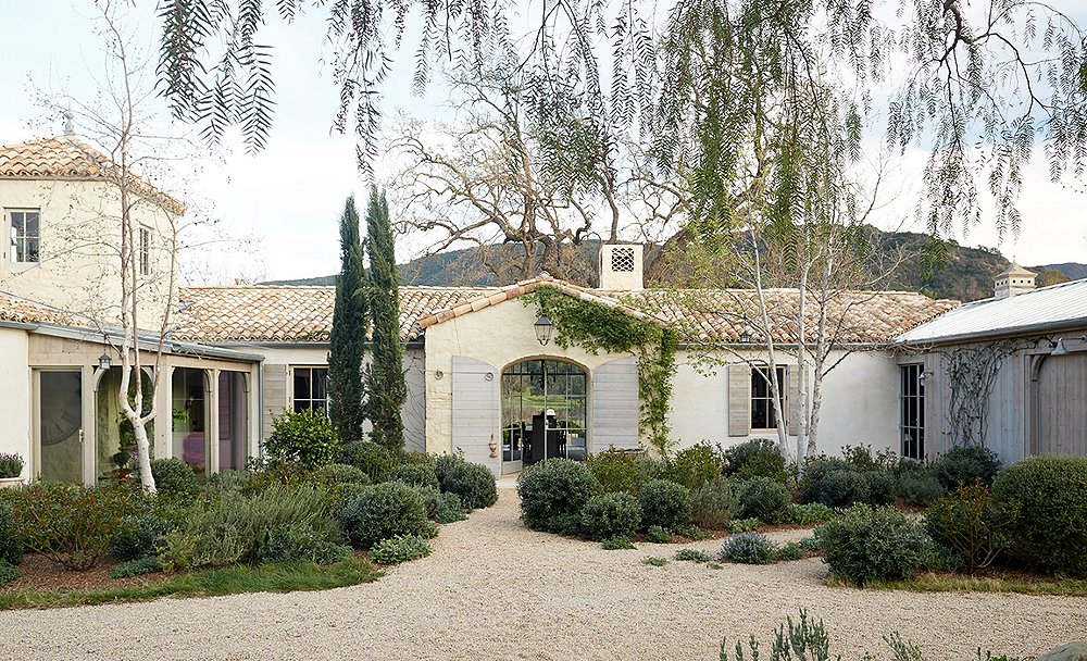 Exterior of farmhouse in Ojai California Patina Farm