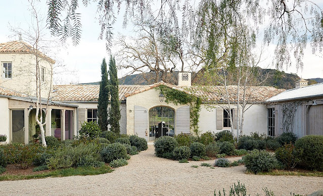 Exterior modern farmhouse neutral European antique style Patina Farm Giannetti Home