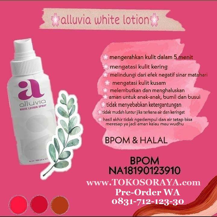 gambar keterangan manfaat white lotion spray alluvia