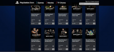 Mortal Kombat in the PlayStation Store