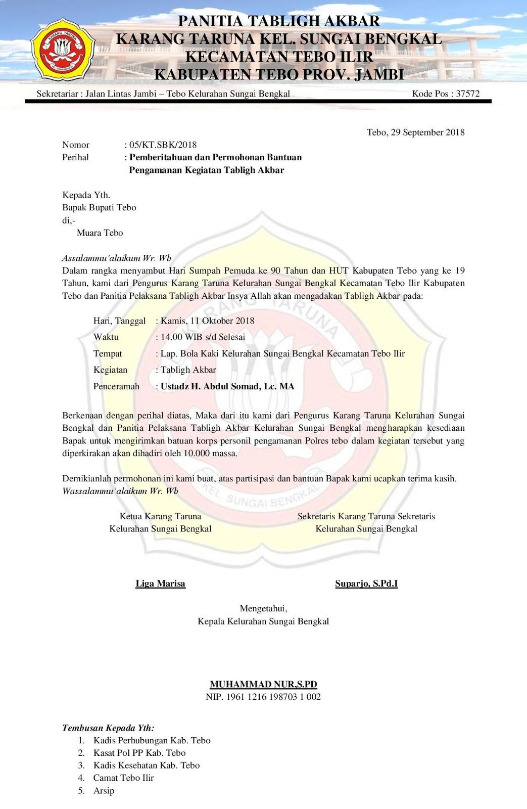 Contoh Surat Orton Contoh Surat Pemberitahuan Dan Permohonan