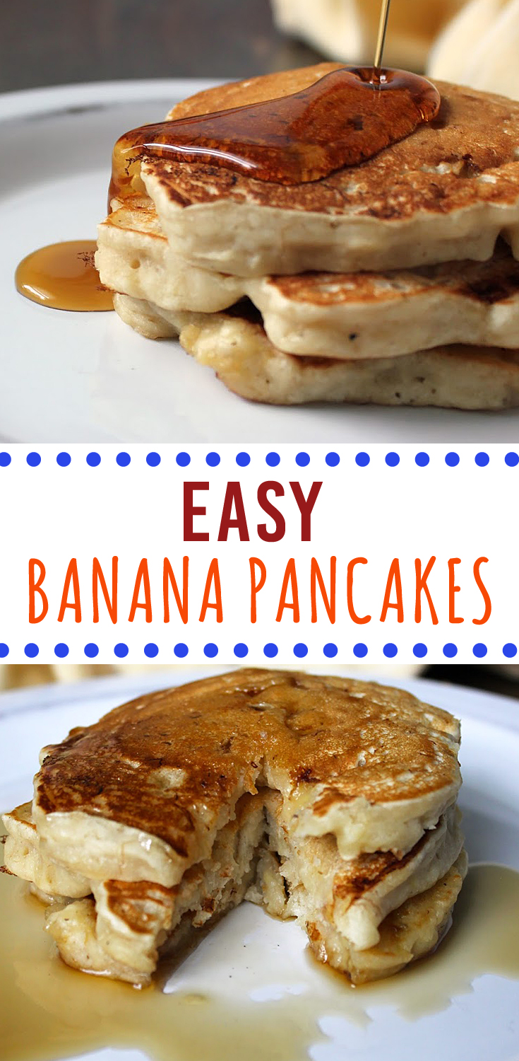 Easy Banana Pancakes | Fresh from the...