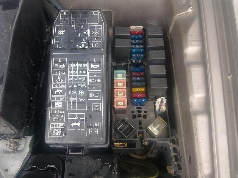 Proton Wira Fuse Box Layout Proton wira fuse box diagram wiring