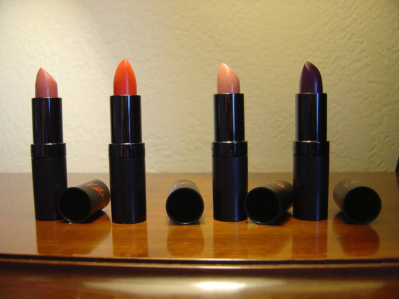 four more Rimmel Lasting Finish Intense Wear Lipsticks.jpeg