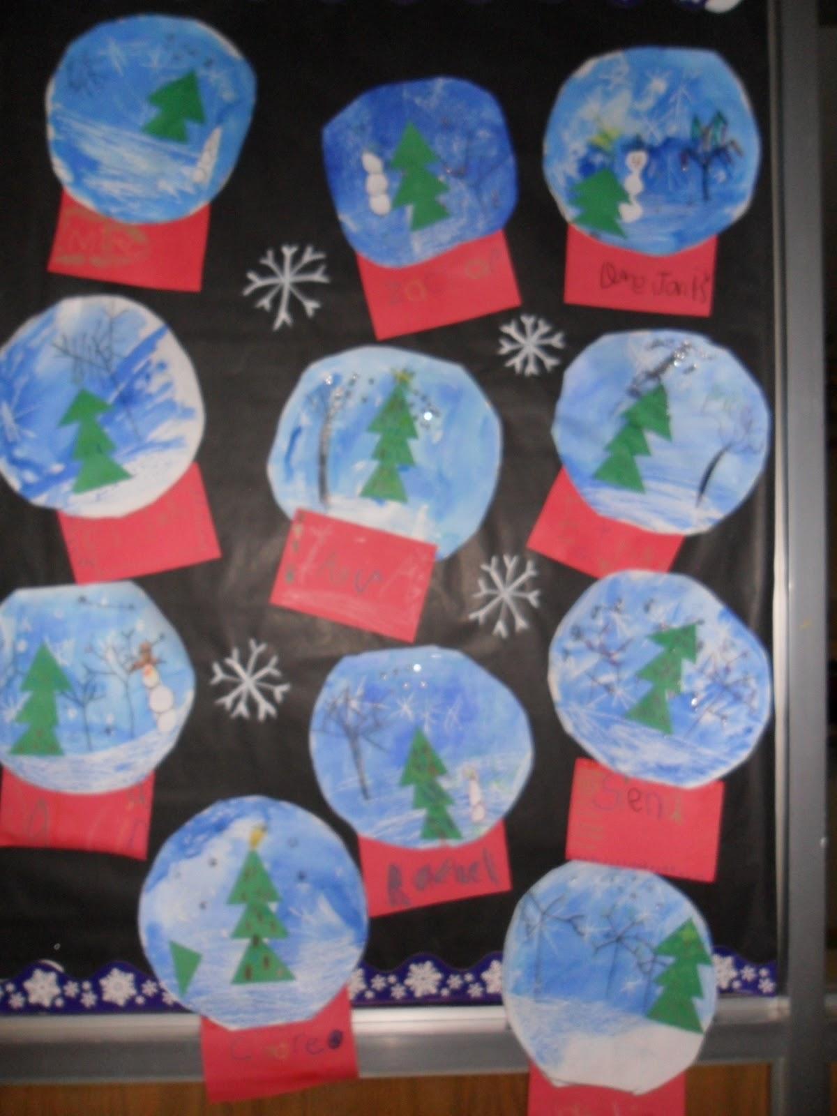 Why I Love Art Kindergarten Snow Globes