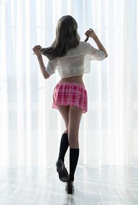 model baju renang Chamomile tampak belakang