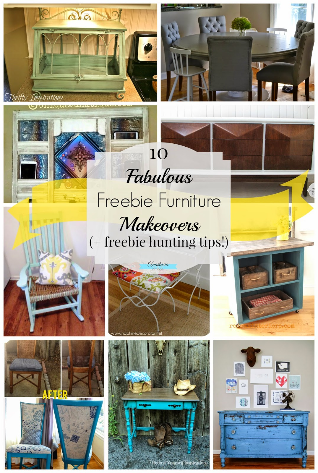 10 Fabulous Trash-to-Treasure Freebie Furniture Makeovers Anastasia Vintage