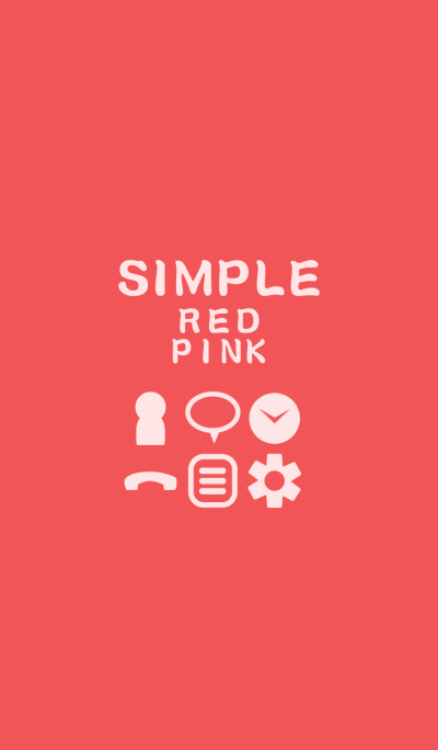 SIMPLE red*pink*