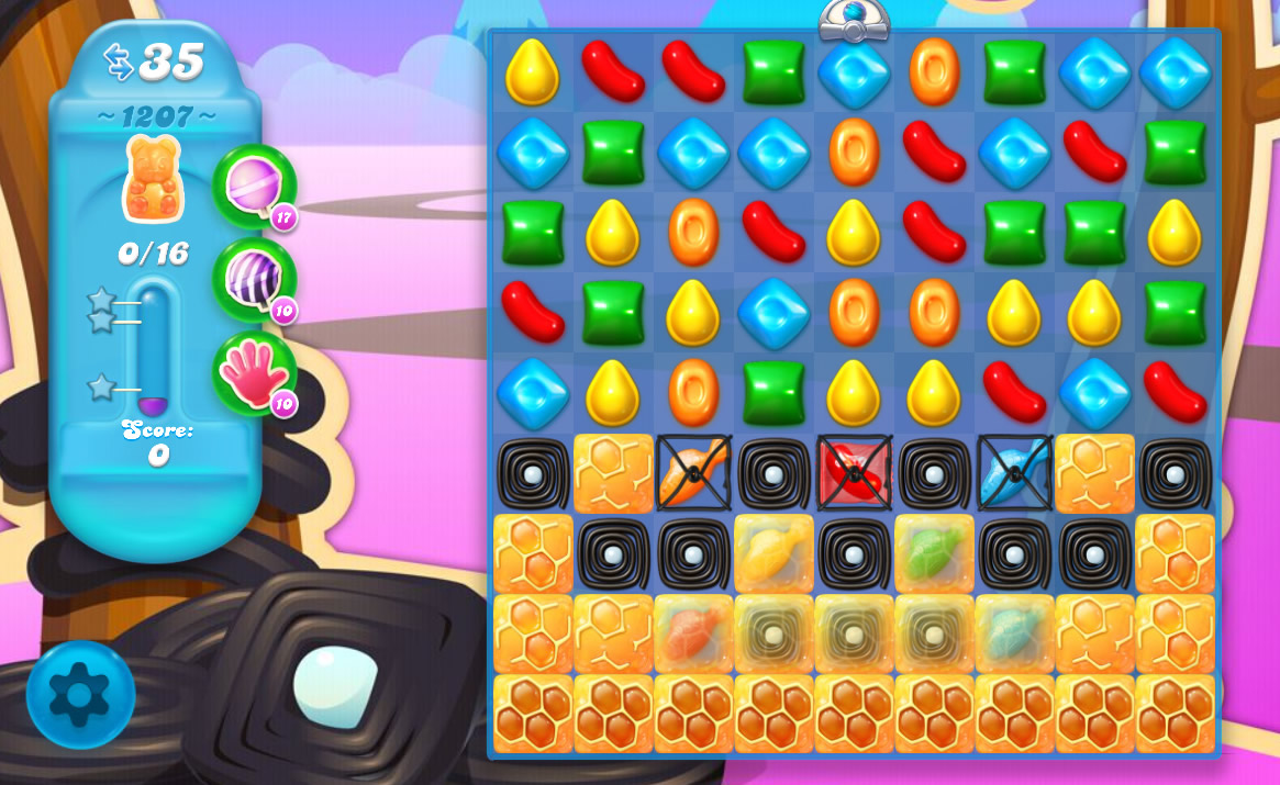 Candy Crush Soda Saga level 1207