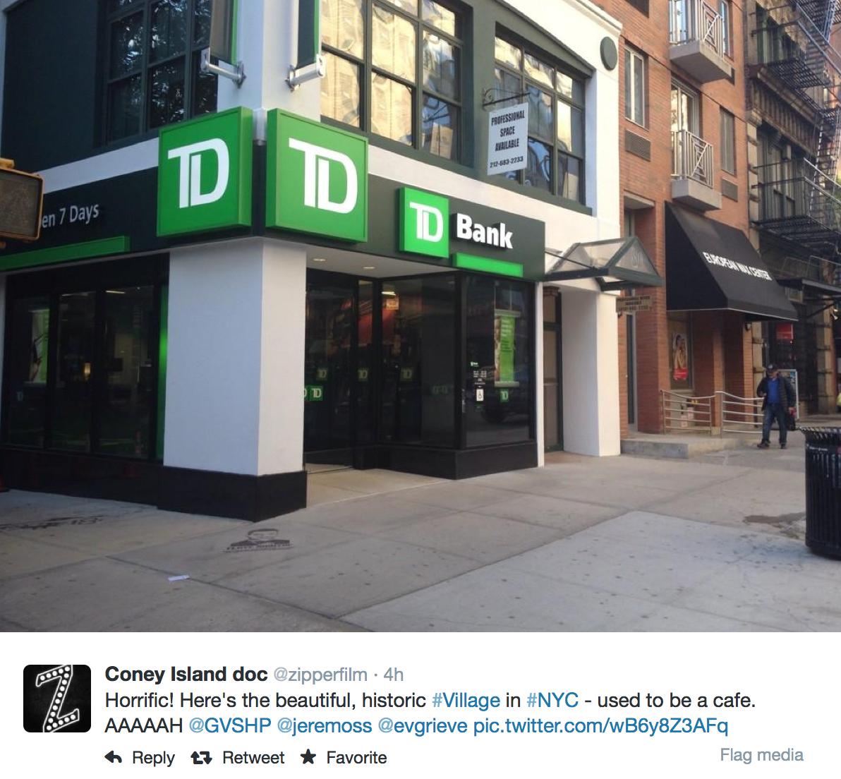 Jeremiah's Vanishing New York: Jack Bistro to TD Bank