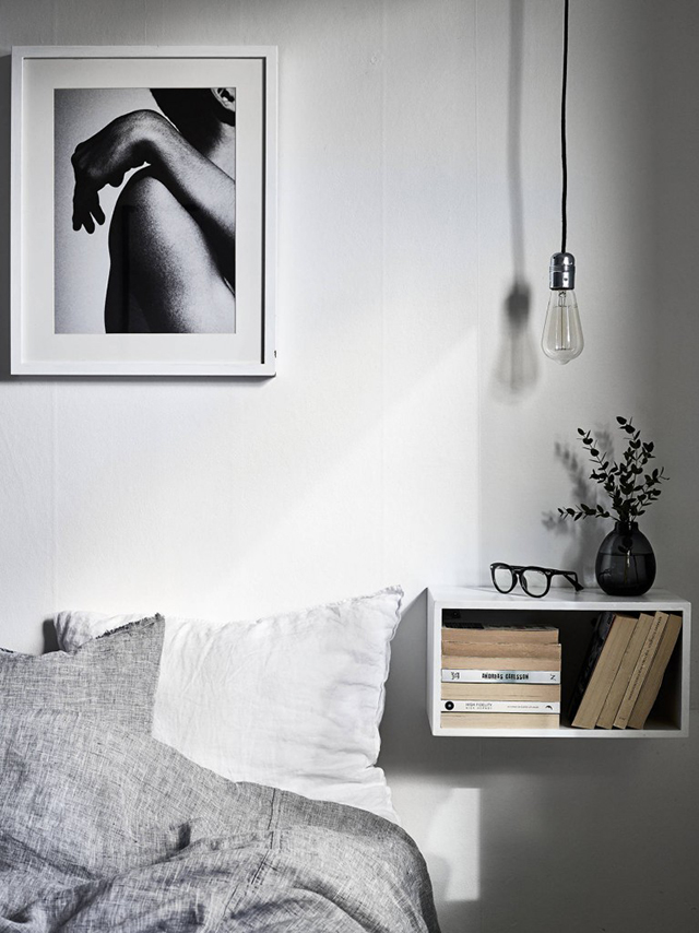 Beautiful bedroom styling by grey deco the design chaser - Mesitas de noche originales ...