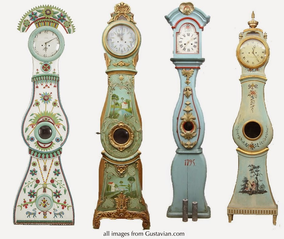 Antique Swedish Bridal Mora Clocks
