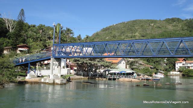 Ponte sobre o canal da Barra da Lagoa - Florianópolis