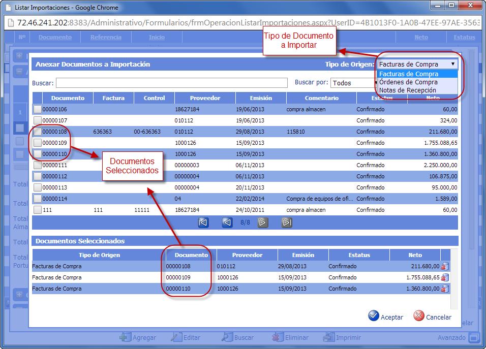 Anexar Documentos a Importación - Gastos de Importación de eFactory ERP/CRM