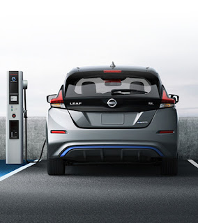 2018 Nissan Leaf charging (Credit: nissanusa.com) Click to Enlarge.