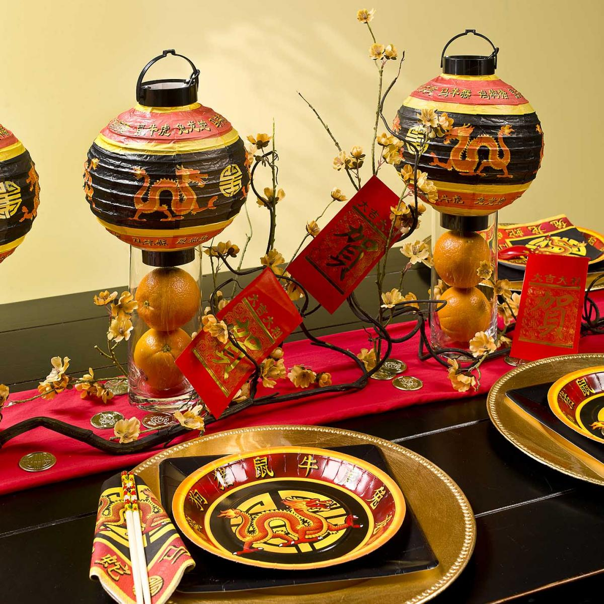 Chinese Dragon Decor Bellissimo Chinese New Year Table Setting And Centerpieces