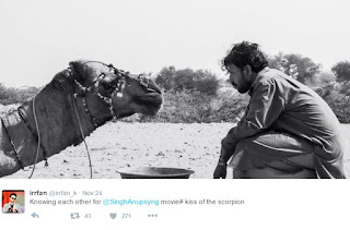 इरफ़ान खान ट्वीट फोटो ऊँट के साथ