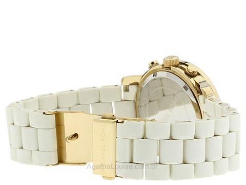 Fabricante  Michael Kors Modelo  MK5145 Côr do Mostrador  Branco Diâmetro  da Caixa  39mm. Profundidade da Caixa  14mm. Largura da Pulseira  20mm 58ddefd270