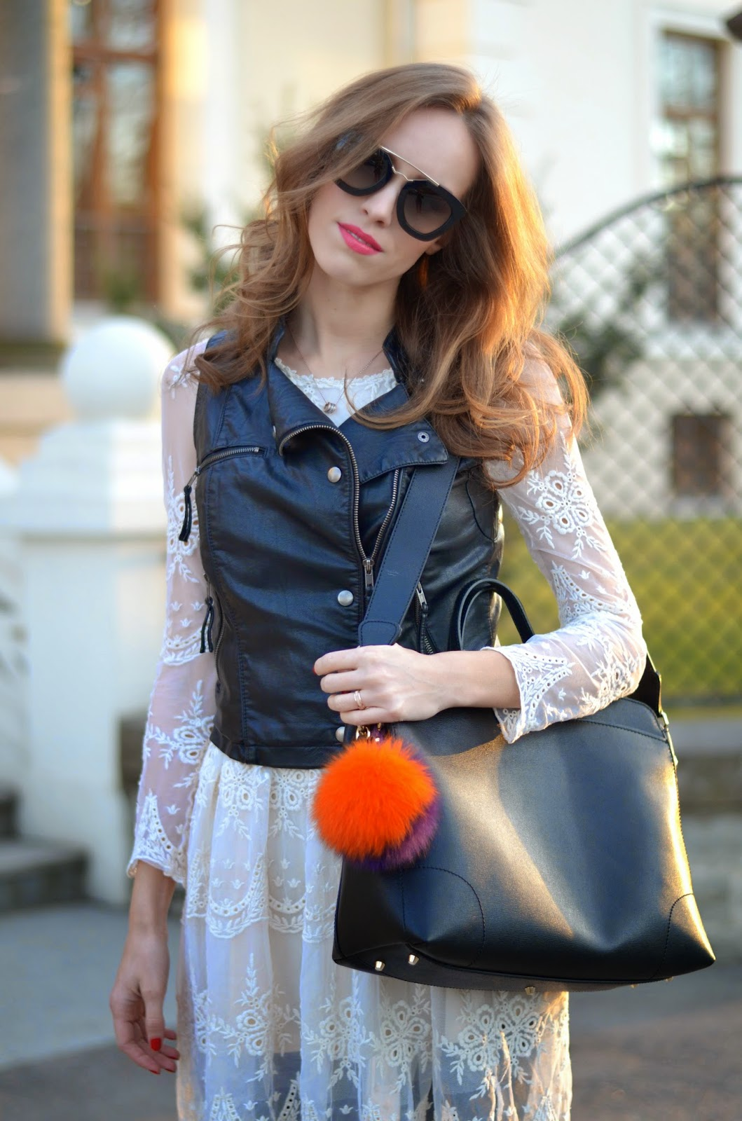 black-leather-vest-white-lace-dress-spring-outfit-inspiration-fashion-street-style kristjaana mere