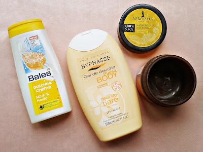 balea gel za tusiranje, byphasse gel za tusiranje, afrodita puter za telo
