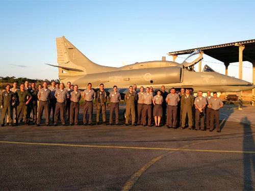 Base Aérea Naval de São Pedro da Aldeia recebeu mais mais um caça modernizado pela Embraer