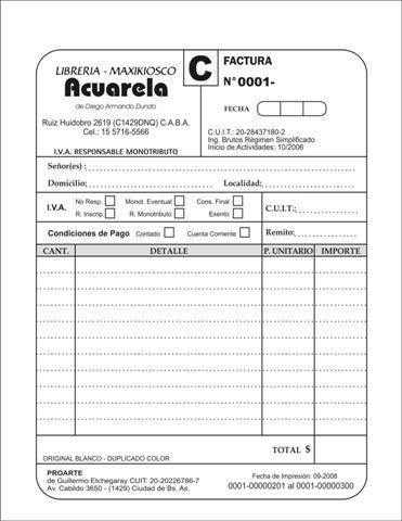 Gestión Compra - Venta FACTURA - formato de factura de venta