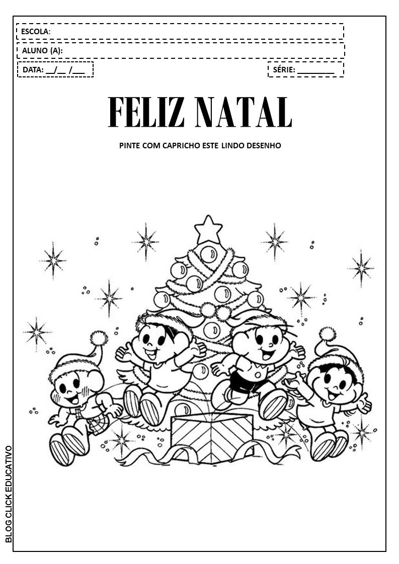 Atividades De Natal Com A Turma Da Mônica Para Colorir