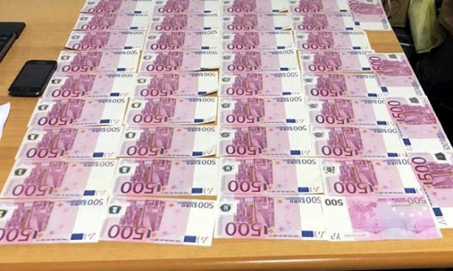 37-year-old Albanian arrested after caught with 24 500 fake euros