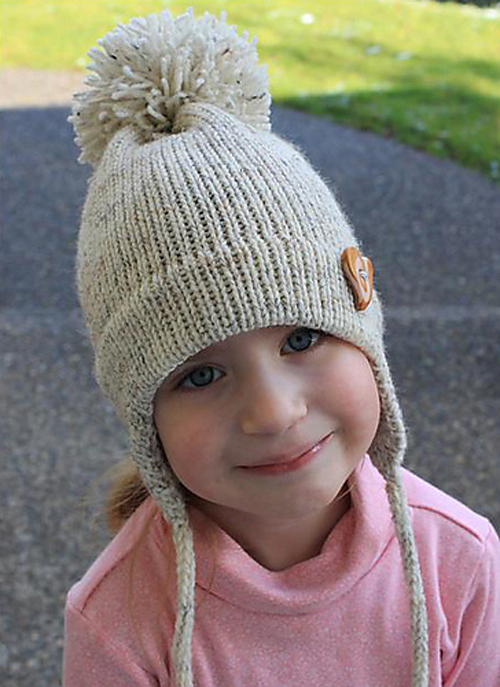 Beautiful Skills Crochet Knitting Quilting Childs Earflap Hat