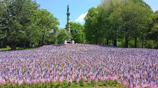 Boston Common flag garden on May 22