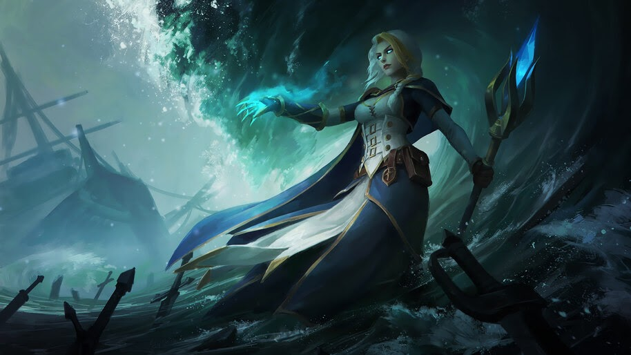 Jaina Proudmoore Wow Fantasy Girl 4k Wallpaper 3 971