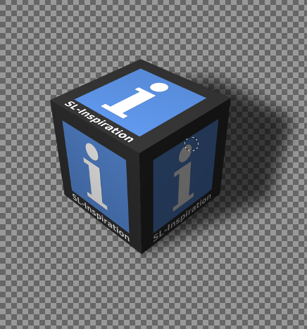 Creating A Cubed Icon Or Logo With Gimp: Completed cube with transparent background