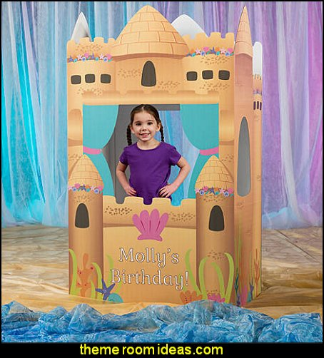 Mermaid Princess 3D Castle  mermaid party decorations - mermaid party ideas - mermaid themed birthday party - ocean theme party decorations - under the sea party - little mermaid birthday party ideas - beach party - water theme parties - mermaid table decor - party props  under the sea birthday party - under the sea theme party table