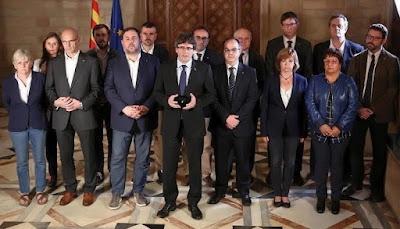 """Los procesados por el """"pruces"""" catalán (Foto de Internet)"""