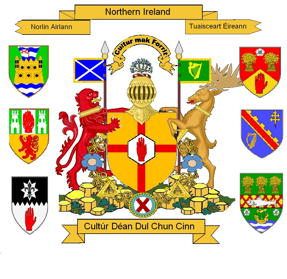 Northern Ireland Flag And Coat Of Arms
