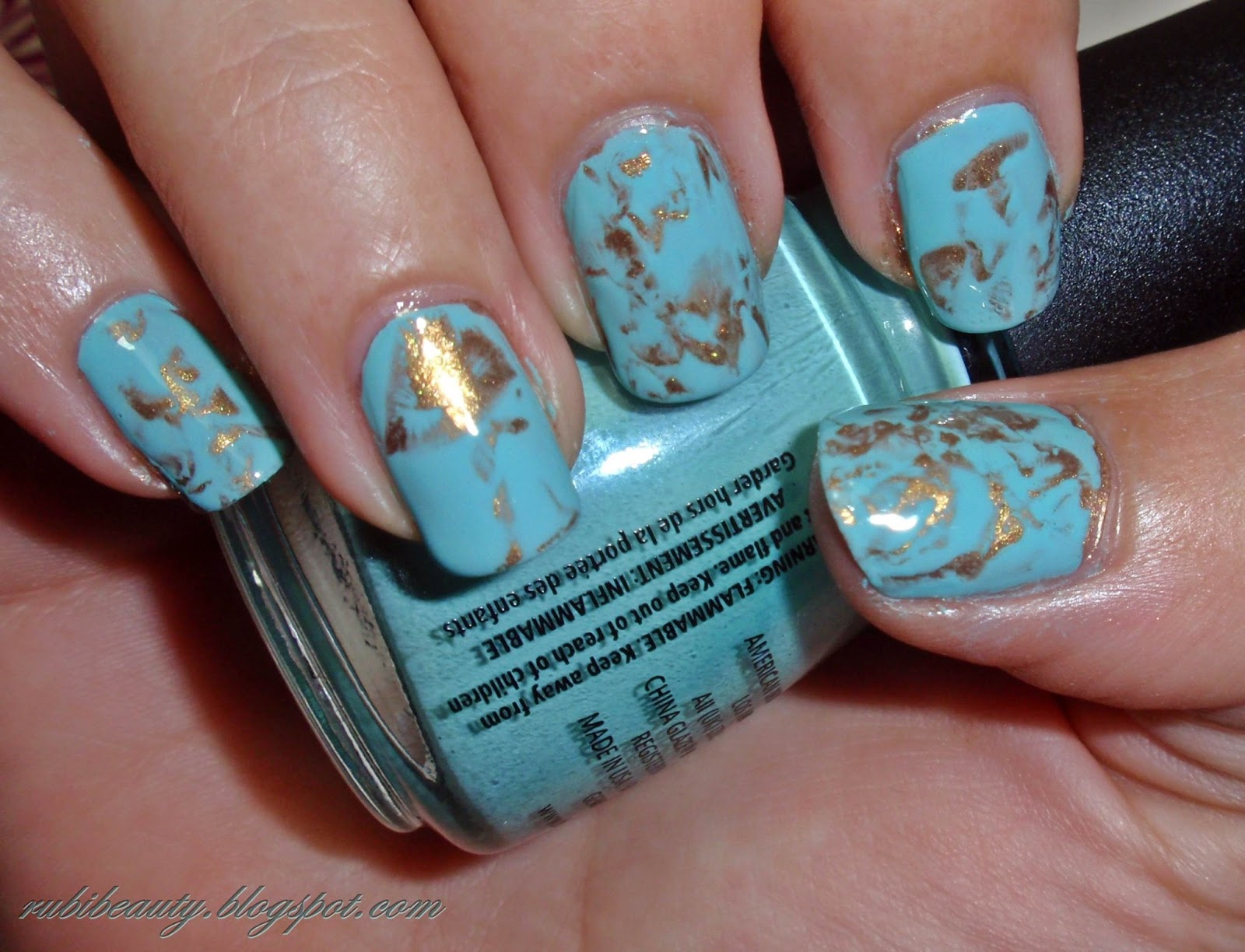 Rubibeauty Nail Art Pan De Oro De Tiffanys