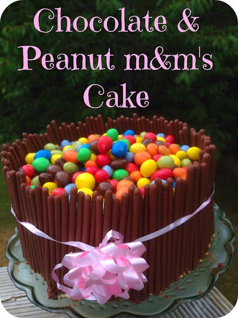 Chocolate & Peanut m&m's Cake