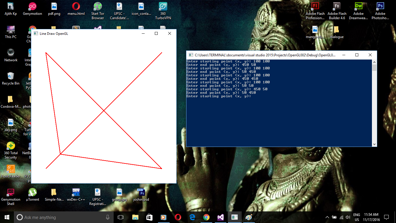 OpenGL: Line Drawing - DDA Algorithm