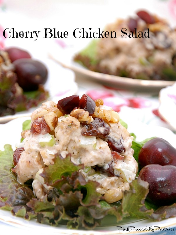 Pink Piccadilly Pastries Tea Room Cherry Blue Chicken Salad