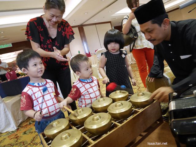 The kids enjoyed trying their hands at some of the traditional music instruments