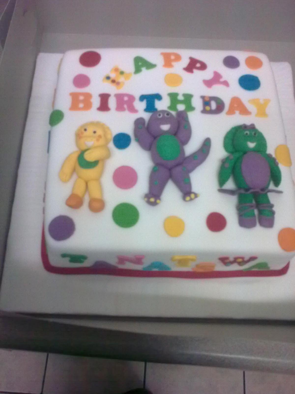 Macaz Parties Barney The Dinosaur Cakes