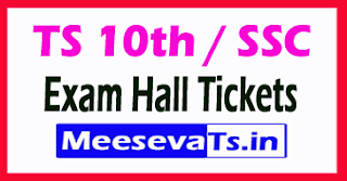 TS 10th Class SSC Annual Exam Hall Tickets 2017
