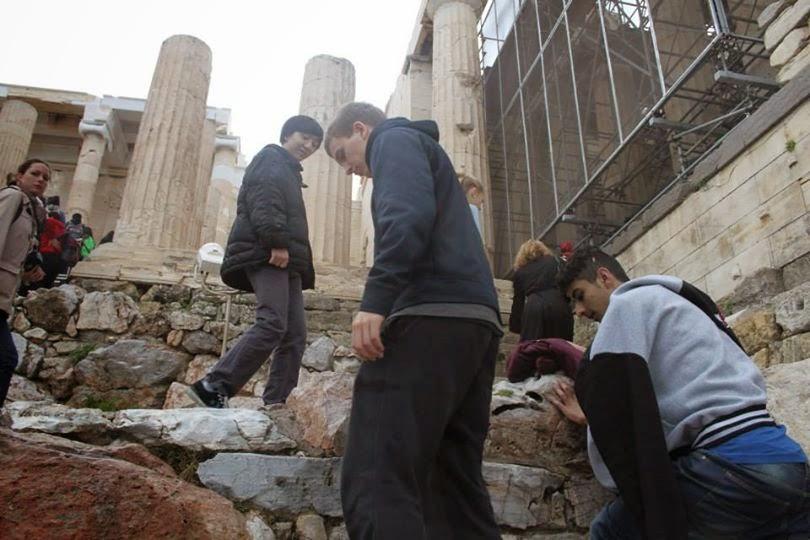 Studierejse Athen 2014 - 2y Svendborg Gymnasium & HF: Akropolis - myter og ruiner