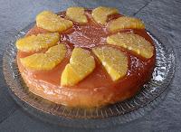 Tarta de membrillo y naranja