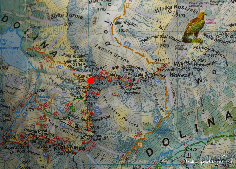 Skrajny Granat na mapie