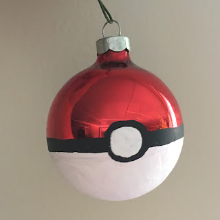 DIY Pokeball Ornament