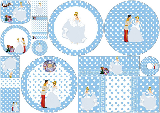 Cinderella Birthday Party: Free Printable Candy Buffet Labels.