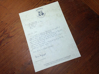 First draft of the letter on the paper