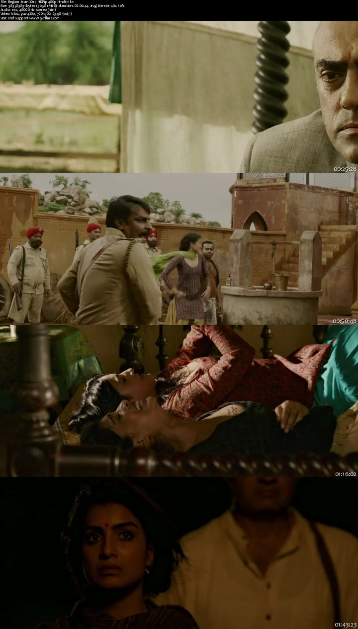 Begum Jaan 2017 HDRip 480p Hindi