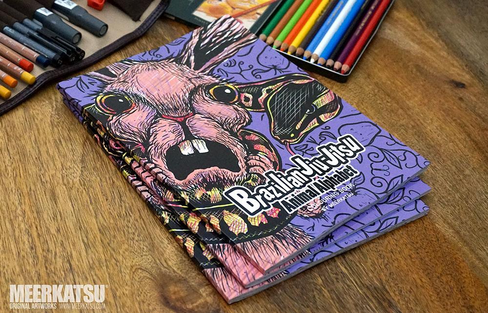 BJJ Animal Alphabet Colouring Book By Meerkatsu
